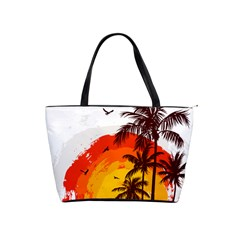 Coconut Tree Classic Shoulder Handbag by Jojostore