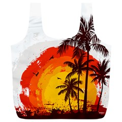Coconut Tree Full Print Recycle Bag (xl)