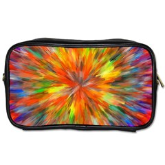 Color Background Structure Lines Space Toiletries Bag (one Side)
