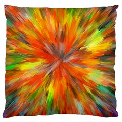 Color Background Structure Lines Space Large Cushion Case (one Side) by Jojostore