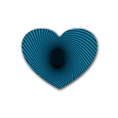 Background Spiral Abstract Rubber Coaster (heart)