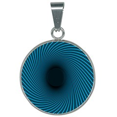 Background Spiral Abstract 25mm Round Necklace by Jojostore