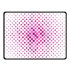 Dot Pattern Circle Pink Fleece Blanket (small)