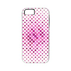 Dot Pattern Circle Pink Apple Iphone 5 Classic Hardshell Case (pc+silicone)