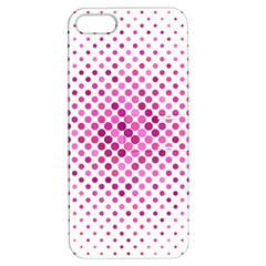 Dot Pattern Circle Pink Apple Iphone 5 Hardshell Case With Stand