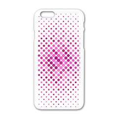 Dot Pattern Circle Pink Apple Iphone 6/6s White Enamel Case