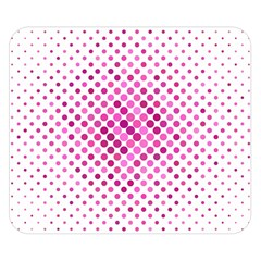 Dot Pattern Circle Pink Double Sided Flano Blanket (small)