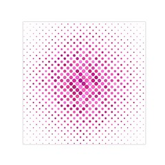Dot Pattern Circle Pink Small Satin Scarf (square) by Jojostore
