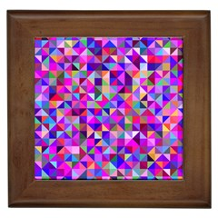 Floor Colorful Colorful Triangle Framed Tiles by Jojostore