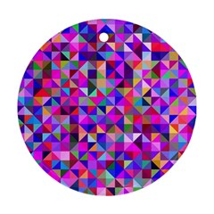Floor Colorful Colorful Triangle Ornament (round) by Jojostore