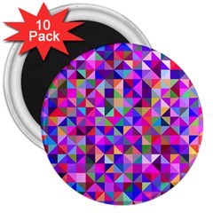 Floor Colorful Colorful Triangle 3  Magnets (10 Pack)