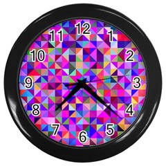 Floor Colorful Colorful Triangle Wall Clock (black)