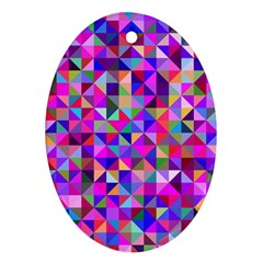 Floor Colorful Colorful Triangle Oval Ornament (two Sides) by Jojostore