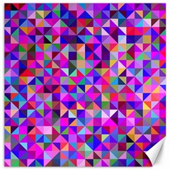Floor Colorful Colorful Triangle Canvas 12  X 12