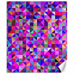 Floor Colorful Colorful Triangle Canvas 20  X 24