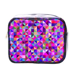 Floor Colorful Colorful Triangle Mini Toiletries Bag (one Side) by Jojostore