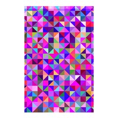 Floor Colorful Colorful Triangle Shower Curtain 48  X 72  (small)