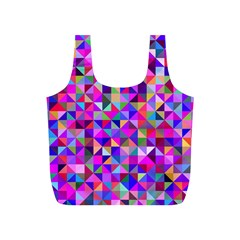 Floor Colorful Colorful Triangle Full Print Recycle Bag (s)