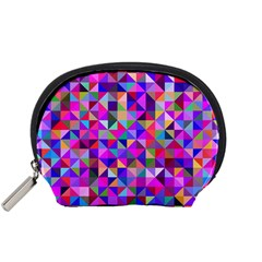 Floor Colorful Colorful Triangle Accessory Pouch (small) by Jojostore