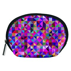 Floor Colorful Colorful Triangle Accessory Pouch (medium)