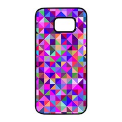 Floor Colorful Colorful Triangle Samsung Galaxy S7 Edge Black Seamless Case by Jojostore