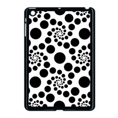 Dots Round Black And White Apple Ipad Mini Case (black)