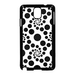 Dots Round Black And White Samsung Galaxy Note 3 Neo Hardshell Case (black) by Jojostore
