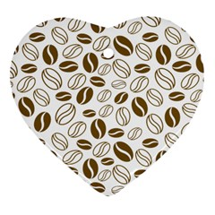 Coffee Beans Vector Heart Ornament (two Sides)