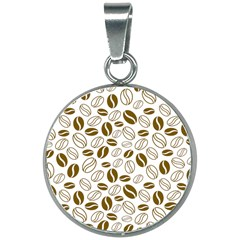 Coffee Beans Vector 20mm Round Necklace