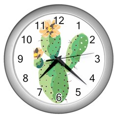 Cactaceae Thorns Spines Prickles Wall Clock (silver)