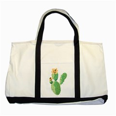Cactaceae Thorns Spines Prickles Two Tone Tote Bag
