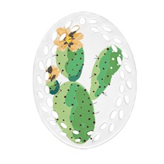Cactaceae Thorns Spines Prickles Ornament (oval Filigree)