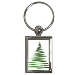 Christmas Tree Spruce Key Chains (rectangle)