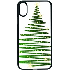 Christmas Tree Spruce Apple Iphone Xs Seamless Case (black)