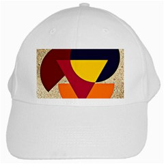 Circle Half Circle Colorful White Cap by Mariart