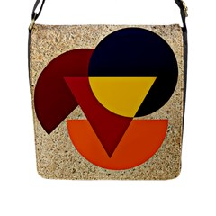 Circle Half Circle Colorful Flap Closure Messenger Bag (l)