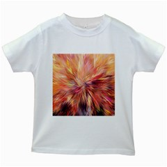 Color Background Structure Lines Kids White T Shirts by Mariart