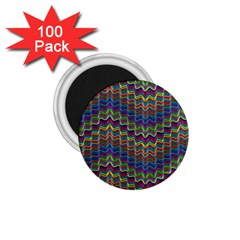 Decorative Ornamental Abstract Wave 1 75  Magnets (100 Pack)