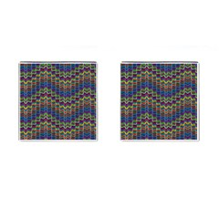 Decorative Ornamental Abstract Wave Cufflinks (square)
