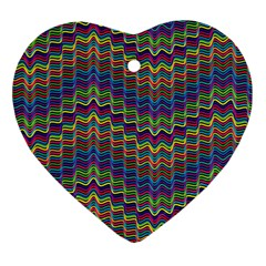 Decorative Ornamental Abstract Wave Heart Ornament (two Sides)