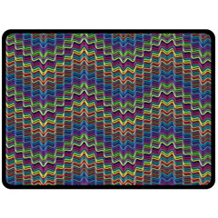 Decorative Ornamental Abstract Wave Fleece Blanket (large)  by Mariart
