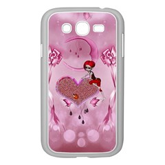 Cute Little Girl With Heart Samsung Galaxy Grand Duos I9082 Case (white)