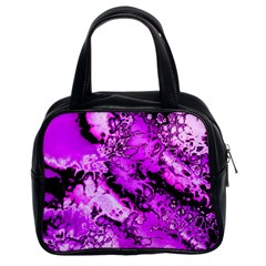 Winter Fractal  Classic Handbag (two Sides)