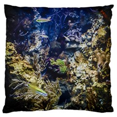 Under The Sea Large Flano Cushion Case (one Side)