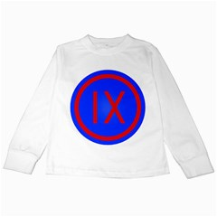 United States Army 9th Mission Support Command Shoulder Sleeve Insignia Kids Long Sleeve T Shirts by abbeyz71