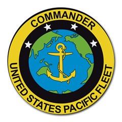 Seal Of Commander Of United States Pacific Fleet Round Mousepads by abbeyz71