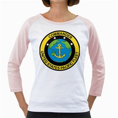 Seal Of Commander Of United States Pacific Fleet Girly Raglan by abbeyz71