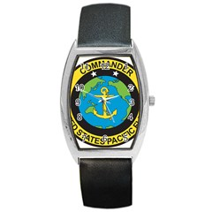 Seal Of Commander Of United States Pacific Fleet Barrel Style Metal Watch