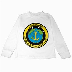 Seal Of Commander Of United States Pacific Fleet Kids Long Sleeve T Shirts