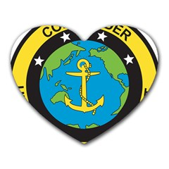 Seal Of Commander Of United States Pacific Fleet Heart Mousepads by abbeyz71
